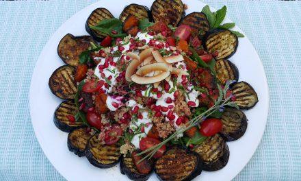 Taryn Littleton's roasted aubergine and summer quinoa salad