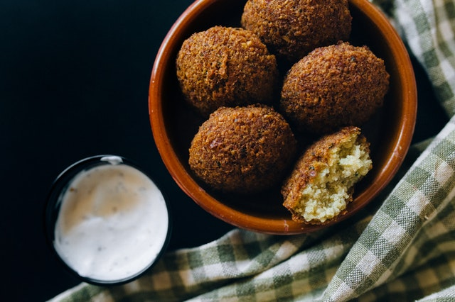 Air fried falafel balls