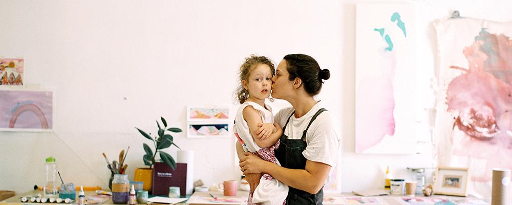 Amy Ayanda and daughter