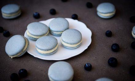Gluten Free Blueberry Cheesecake Macarons