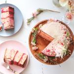 Sugar-free Coconut Cream, Rose and Almond Cake