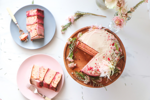 Zesty Rose and Almond Chickpea Cake