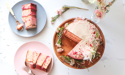 Sugar-free Coconut Cream, Rose and Almond Cake