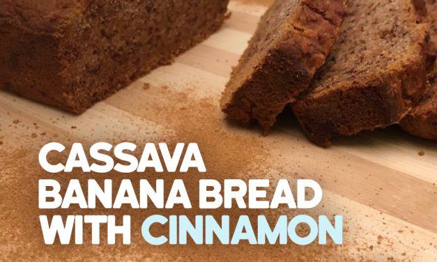 Banana bread with cassava flour