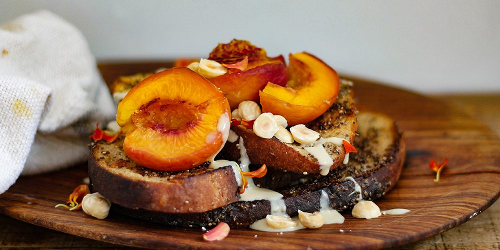 Chia-crusted french toast