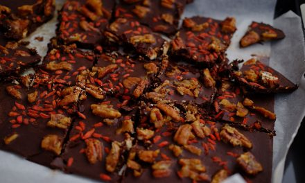 Chocolate Bark with Candied Pecans