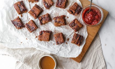 Peanut Butter And Jelly Chickpea Blondies