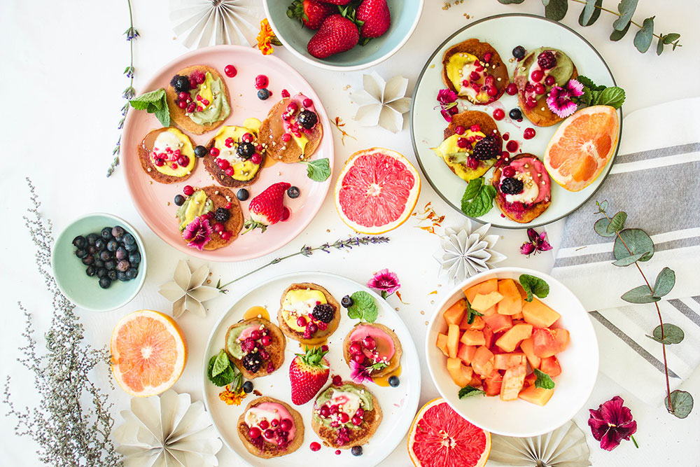 FLUFFY-COCONUT-YOGHURT-PANCAKES-with-NATURAL-RAINBOW-DRIZZLES