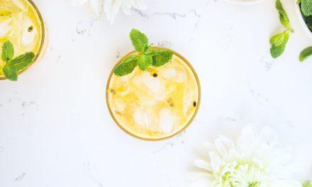 Fresh Passion Fruit and Elderflower Mocktail