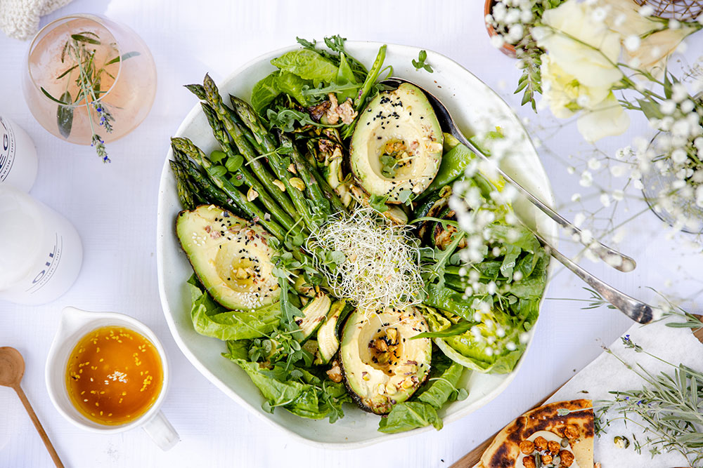 Grilled Asparagus and Broccoli Salad