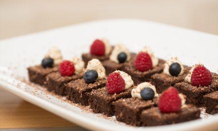 Chewy gooey cassava brownies
