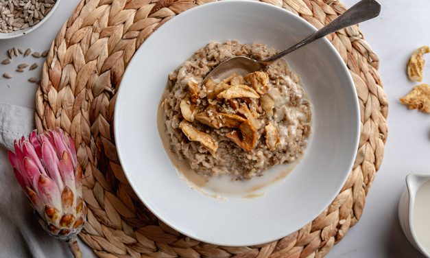 Healthy Sunflower Seed Breakfast Risotto