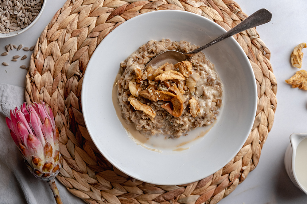 Healthy Sunflower Seed Breakfast Risotto 4