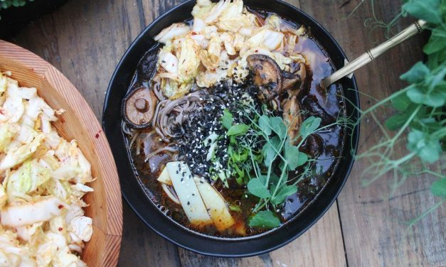 Korean Miso and Kimchi Soup