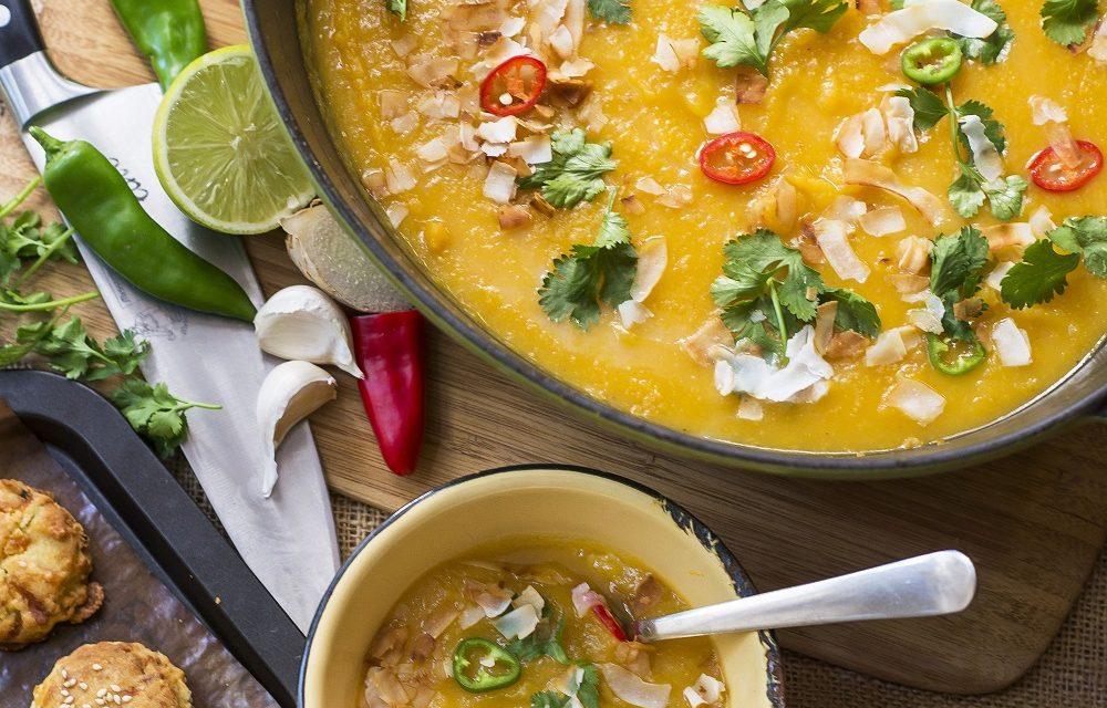 Thai Sweet Potato Soup with Gluten-Free Scones
