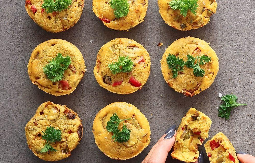 Savoury Chickpea Muffins
