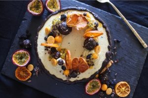Passion Fruit and Goose Berry Cashew 'Cheese' Cake