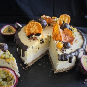 Passion Fruit and Goose Berry Cashew 'Cheese' Cake2 _wev