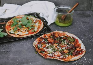 Collagen-Infused Rocket & Basil Pizza