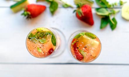Kombucha Mocktails for Summer: Spicy Strawberry Bellini Twist
