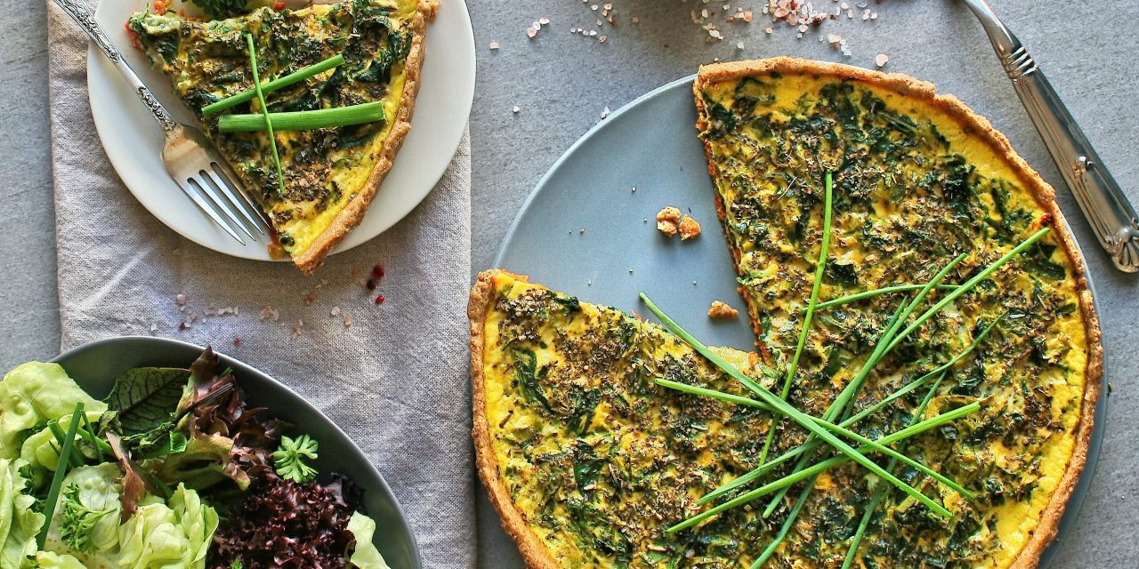 Spring vegetable and red pesto tart by Cupcakes and Couscous