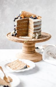 Toasted Coconut Birthday Cake with a Dairy-Free Matcha Frosting 6