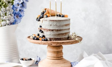 Toasted Coconut Birthday Cake with a Dairy-Free Matcha Frosting