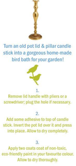 Spring Repurposing Project: Beautiful DIY Bird Bath