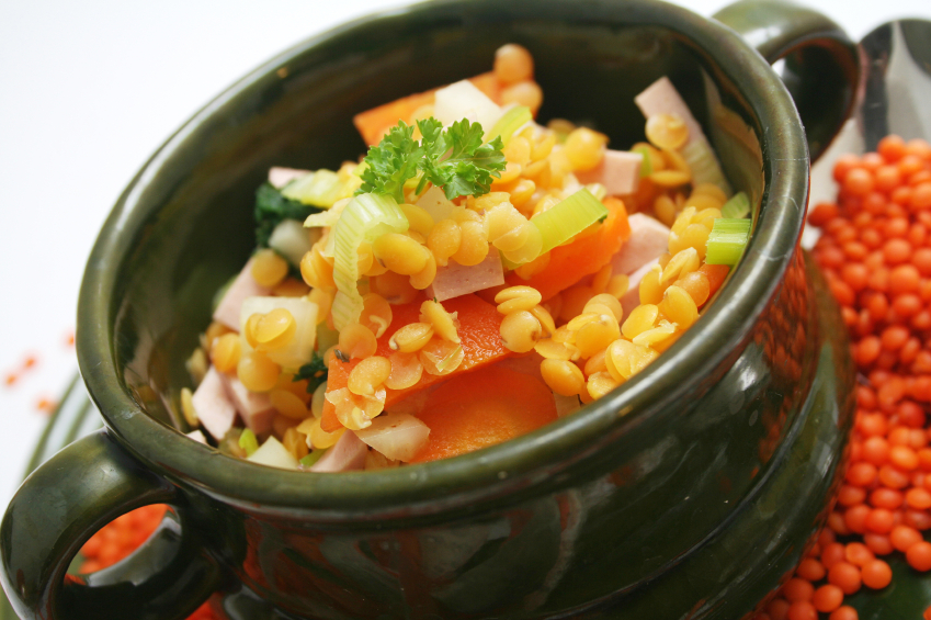 Warming Lentil Stew served over Quinoa | Faithful to ...