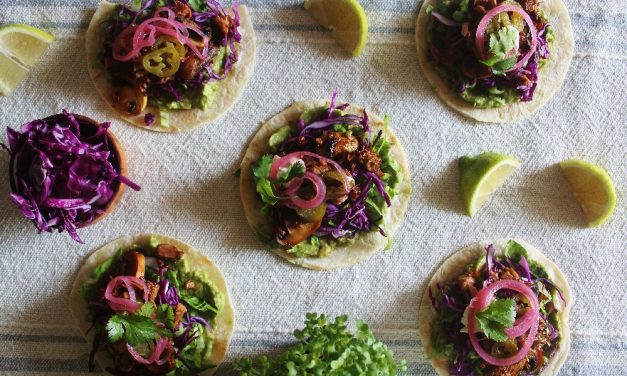 Jackfruit and Guacamole Tacos