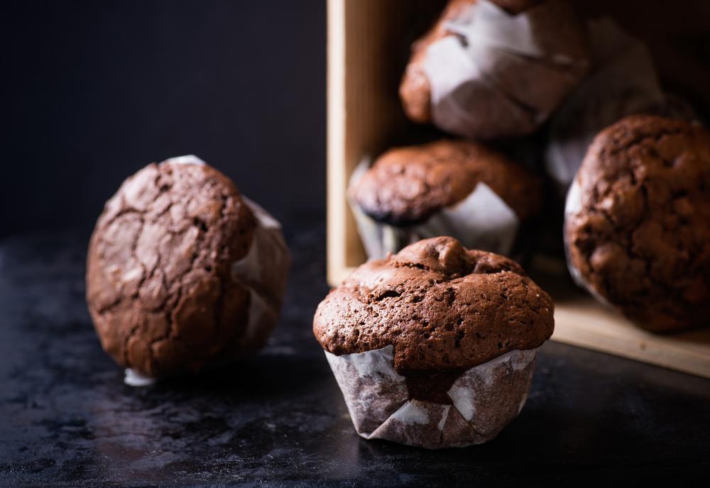 Chocolate avo muffins