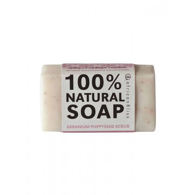 African Bliss Geranium & Poppyseed Scrub Soap