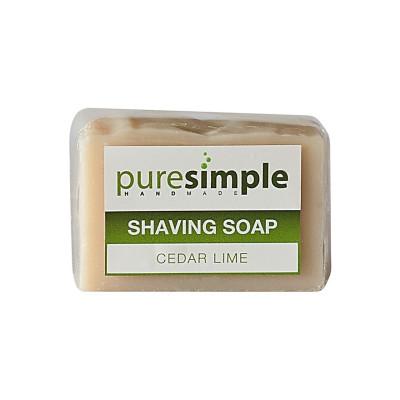 Pure Simple Shaving Soap - Cedar Lime