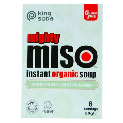 King Soba Organic Mighty Miso Soup with Tofu & Ginger