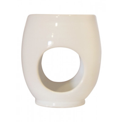 Indalo White Egg-Shaped Ceramic Burner