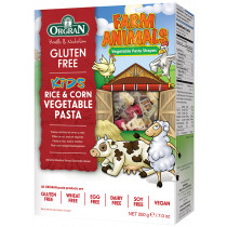 Orgran Farm Animals, Rice & Corn Vegetable Pasta