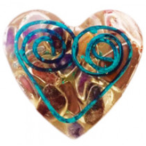 Bio-Sil Orgonite Heart Shape EMF Busters