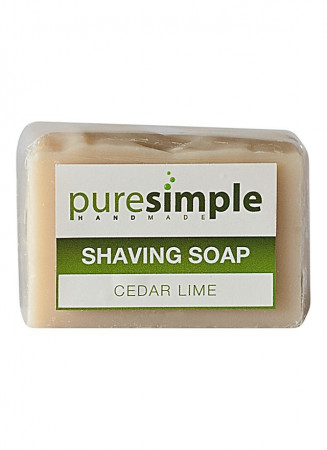 Pure Simple Shaving Soap - Cedar Lime