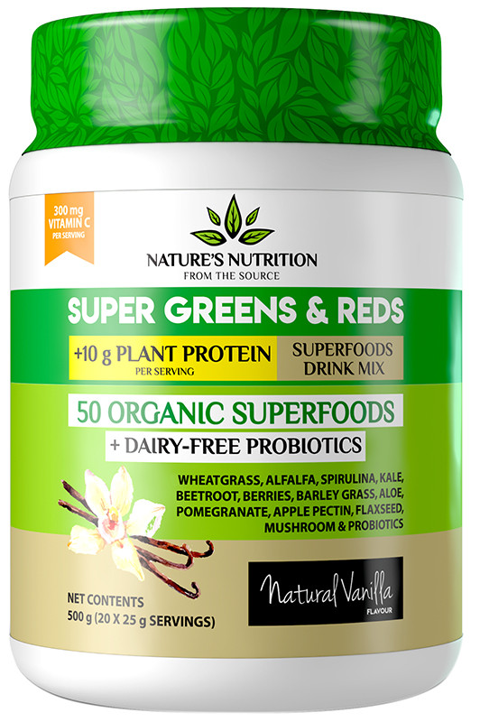 Buy Nature S Nutrition Super Greens Amp Reds Amp Protein