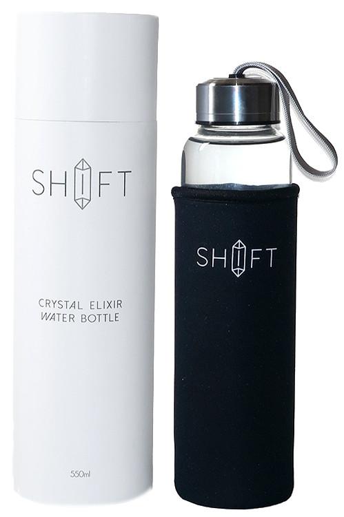 Shift Clear Quartz Crystal Elixir Water Bottle