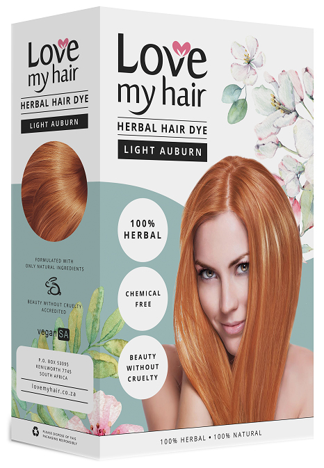 Love My Hair 100 Herbal Hair Dye Light Auburn