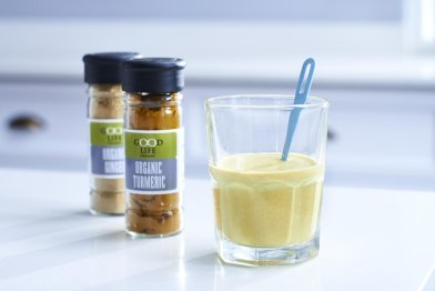 Turmeric and Ginger Kefir Breakfast Shots